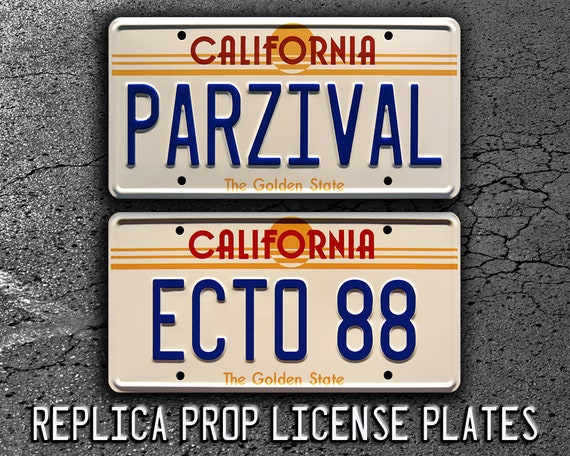 Wade Watts/' Delorean Metal Stamped Vanity Prop License Plate PARZIVAL Ready Player One