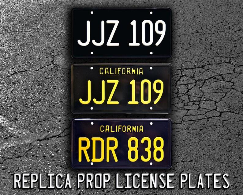 Metal Stamped Vanity Prop License Plate Steve McQueens 68 Mustang JJZ 109 Celebrity Machines Bullitt