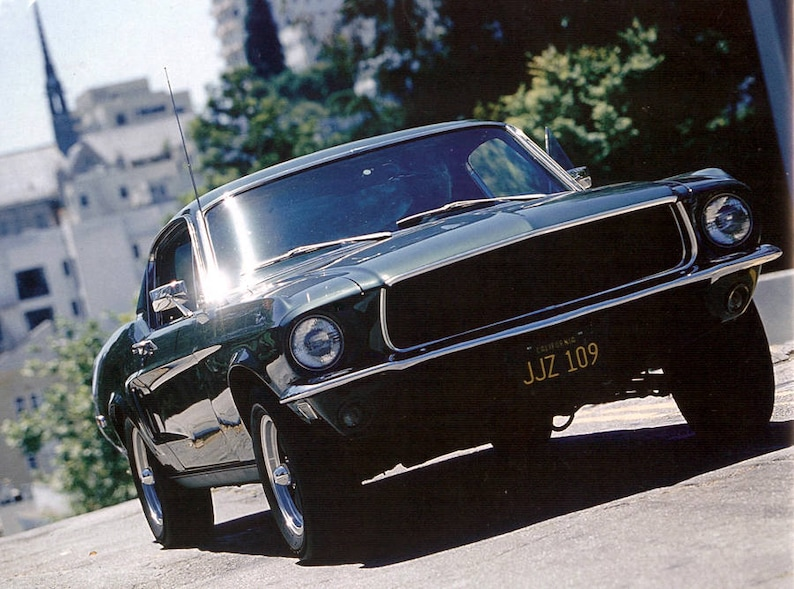 Metal Stamped Replica Prop License Plate Combo Bullitt Mustang /& Charger JJZ 109 RDR 838