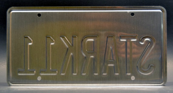 Stark 11 Tony Stark Iron Man 2 Metal Stamped Vanity Prop License Plate