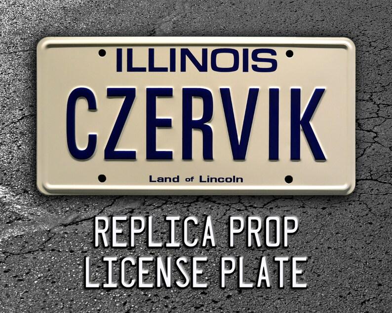 Rodney Dangerfield\u2019s Rolls Royce Caddyshack Metal Stamped Replica Prop License Plate CZERVIK