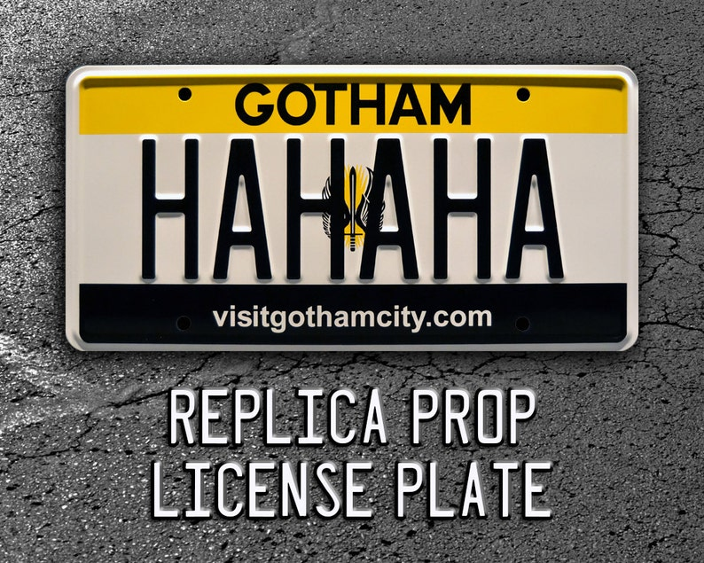 BAT-1 Metal Stamped License Plates The Jokers Hahaha Batman