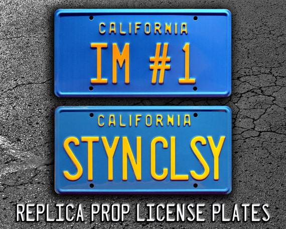 IM #1 Metal Stamped Vanity Prop License Plate Anchorman Will Ferrell/'s Pontiac Catalina
