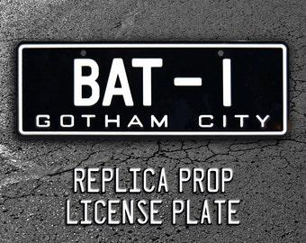 Batman | 1966 Batmobile | BAT-1 | Metal Stamped Replica Prop License Plate