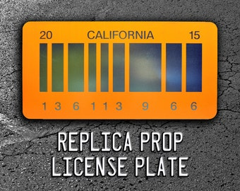 Back to the Future 2 | Delorean | 2015 | Metal Stamped Replica Prop License Plate