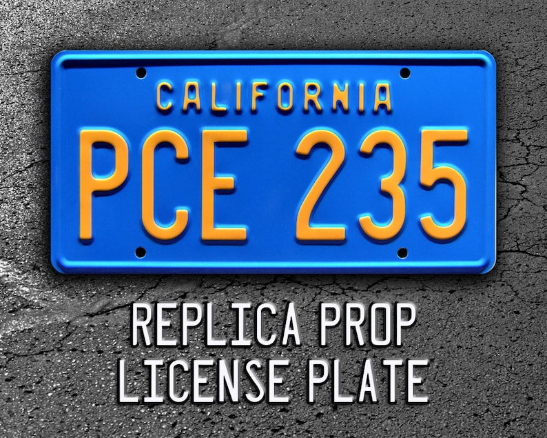 Stranger Things | Billy's Camaro | PCE 235 | Metal Stamped Replica Prop  License Plate