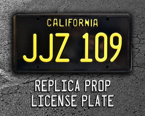JJZ 109 Celebrity Machines Bullitt Steve McQueens 68 Ford Mustang Metal Stamped Vanity Prop License Plate