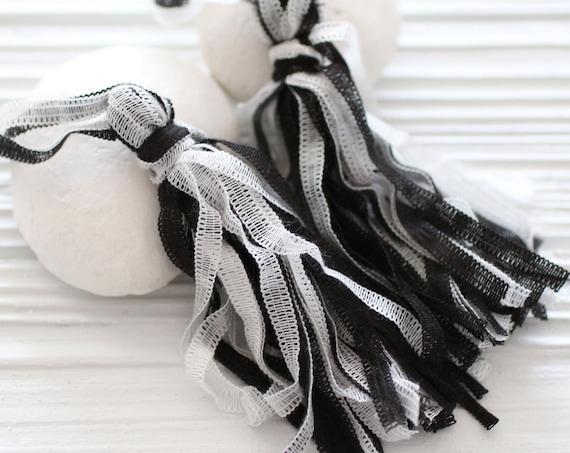 Black and white tassel, necklace tassel, multicolor tassel, tassel pendant, large statement tassel, cotton mix, decorative, unique findings