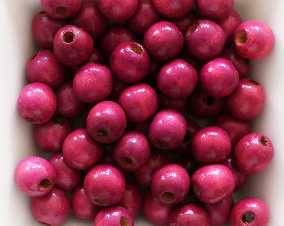 10mm cherry wood beads, mala beads, 20pc, 40pc, loose beads, plum round wooden necklace beads, bead spacer, natural wood bracelet beads, N21