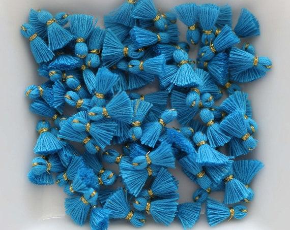 10pc royal blue tassel charms mini, bracelet tassel, charm tassel, earrings tassel, tassels, tiny jewelry tassels, necklace tassel, N19