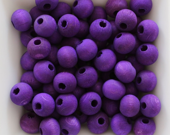 "10mm wood beads, mala beads, 20pc, 40pc, 8"" 16"" loose beads, purple round wooden necklace beads, rondelle natural wood bracelet beads, N9"