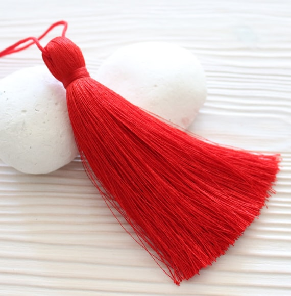 Extra thick red silk tassel, large tassels, silk tassel, jewelry tassels, tassel, handmade tassels, decorative tassels,red tassel,thread,N27