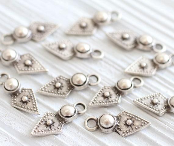 10pc large silver tribal charms pendant, silver dagger, silver charms, earrings dangle, silver tribal pendant, rustic,boho, large hole charm