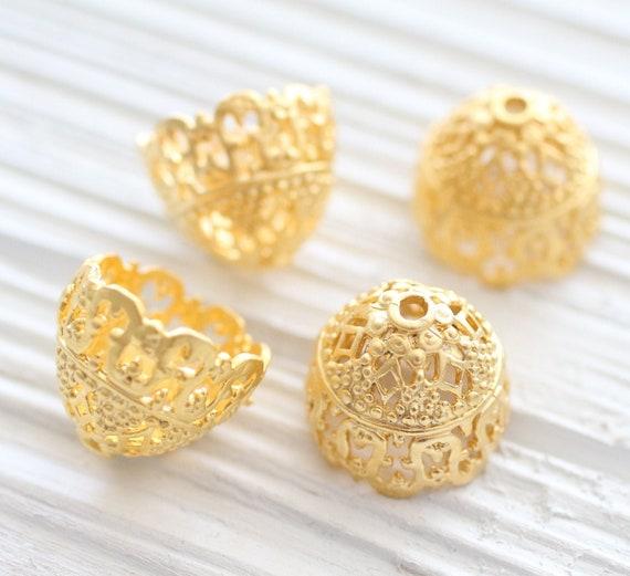 Large Bead Cap Gold Bead Caps 1pc Tulip Bead Cap 723 20x15mm Tassel Cones Matte Gold Tassel Caps