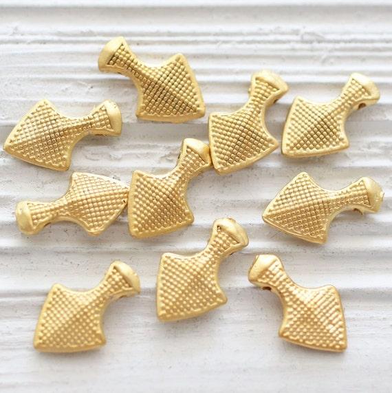 5pc dagger charm, gold stick charm, gold spike charms, large gold charms, dagger, necklace charms, earring dangles, dagger pendant