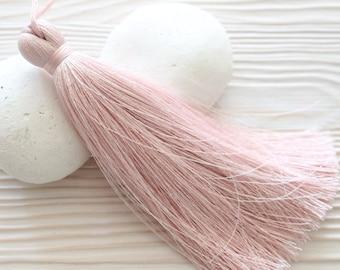 Pink silk tassel, extra large tassels, thick tassels for jewelry, tassel, door knob, pillow tassel, home decorative tassels, pale pink, N35