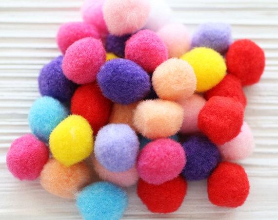 70pc felt pom poms, felt balls, 20mm, garland pom poms, felt pom pom, pom poms for garland, DIY ball garland pom poms