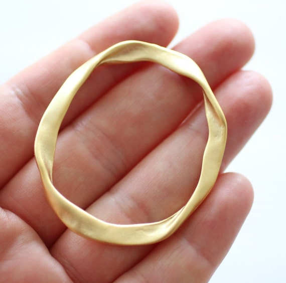 2pc matte gold connector rings, ring connector, jewelry rings, gold connectors, large gold rings, thick rings, large rings, ring pendant