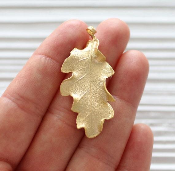 Leaf charm pendant, filigree leaf gold, hammered leaf, matte gold rustic pendant dangle, earring charms gold, romantic leaf charm, Y1