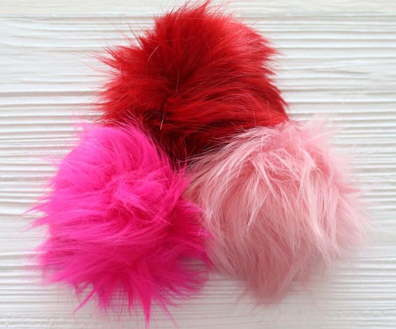 5 plum faus fur pom poms for hats keychain bags slippers curtains fur pom pom N11 Burgundy pom pom large pom pom beanie pom pom