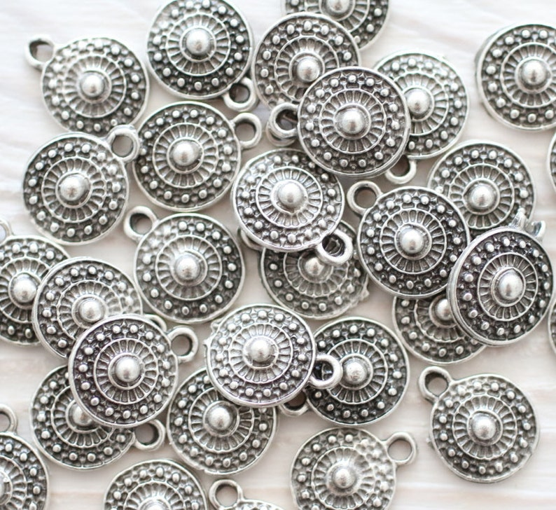 10pc tribal charms bracelet charms earring charms silver image 0