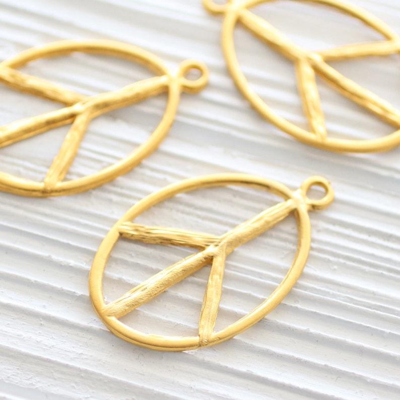 piece sign dangles large gold pendant peace gold piece sign earrings dangle Gold peace pendant large pendants gold peace sign