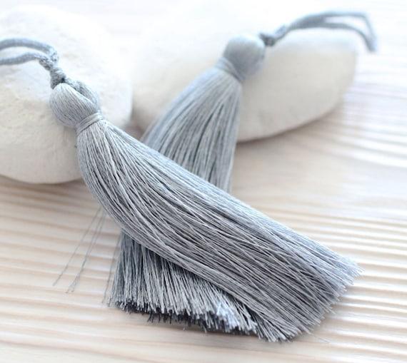 Gray silk tassel, mala tassel, thick tassel, jewelry tassels, tassel, decorative tassels, large tassels,long silk tassel,handmade tassel,N12