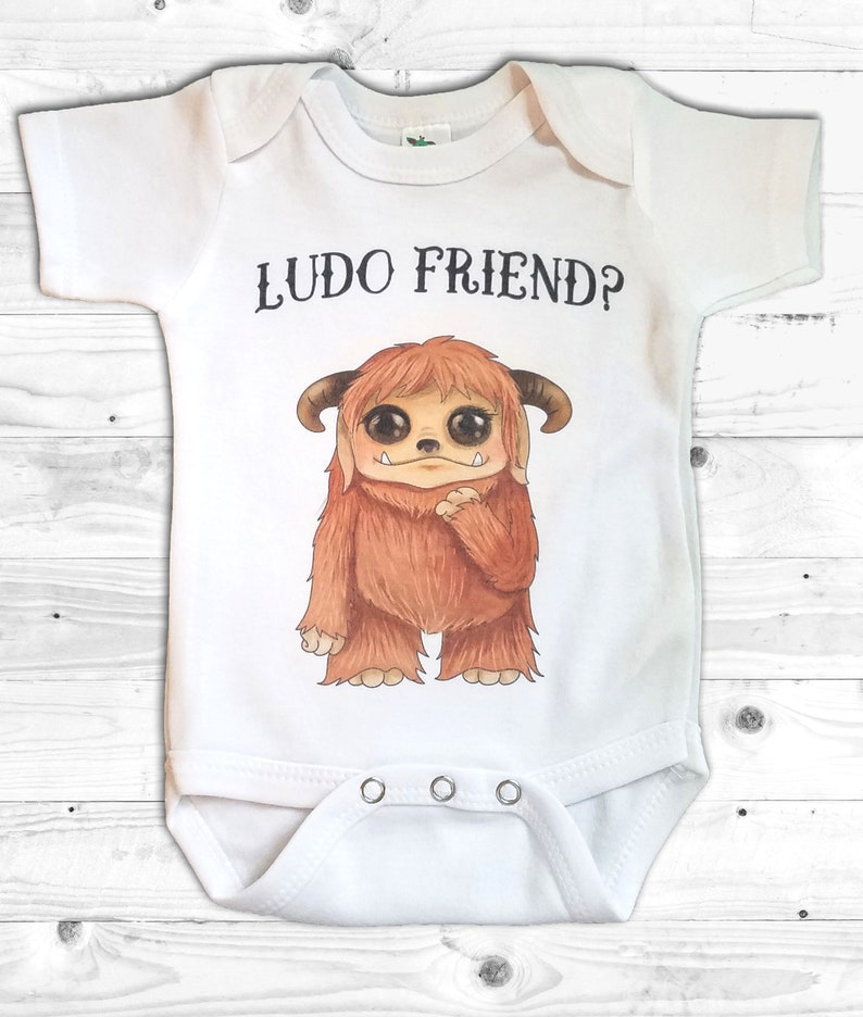 Baby With The Power Baby grow Romper David Bowie Labyrinth Babe Clothes Film 80s