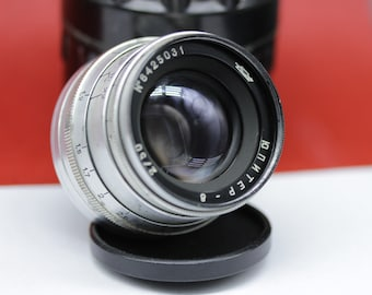 Tested Red P Jupiter 8 2.0/50mm M39 FED Zorki Leica RF Silver Soviet Lens Sonnar copy