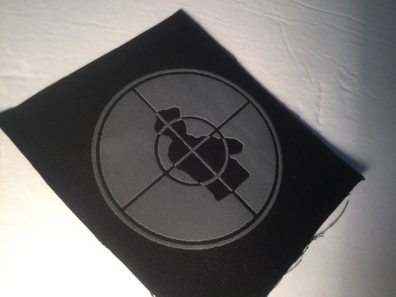 Public Enemy Hand Printed Patch In Grey Ink. by Etsy