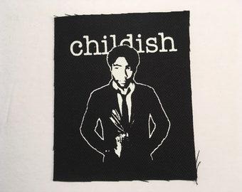 Childish hand printed patch