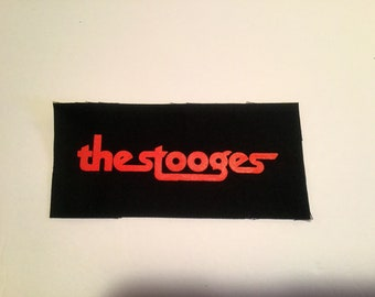 The Stooges hand printed patch