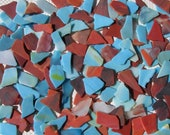 Tumbled Stained Glass-Medium pieces-Multi-colored-2 PoundS-Uroboros Glass-Mosaic-Jewelry-Filler-Crafts-Blue-Orange