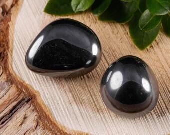 Two Medium HEMATITE Tumbled Stones - Hematite Stone, Hematite Crystal, Healing Stone, Healing Crystal, Rocks and Gems Rocks & Minerals E0510