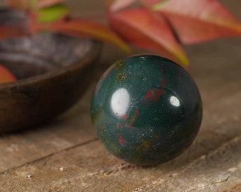 BLOODSTONE Sphere - Marble, Mini, S, M - Polished Bloodstone Crystal Sphere, Jasper Stone Sphere, Healing Crystal Ball, Jasper Sphere E0269
