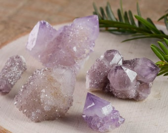 SPIRIT QUARTZ Crystals -5 Mini or 2 Small- Amethyst Quartz Crystal, Spirit Quartz Necklace, Spirit Quartz Cluster, Spirit Quartz Point E0005