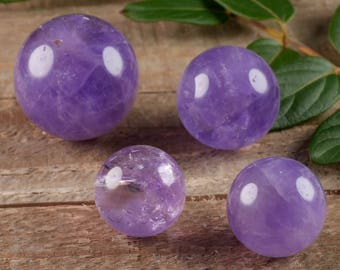 One AMETHYST Crystal Sphere - XS, S or M - Natural Amethyst Sphere, Crystal Ball, Amethyst Quartz Sphere, Chakra Stone, Chakra Crystal E0576