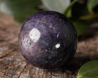 Mini Star SAPPHIRE Sphere - Sapphire Stone Sphere, Gemstone Sphere, Polished Crystal Ball, Healing Stone, Sapphire Crystal Sphere E0958