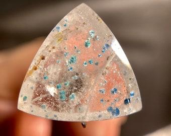 Medusa Paraiba Quartz Jewelry Making 43962 GILALITE Cabochon Rectangle Gemstones Bicolor