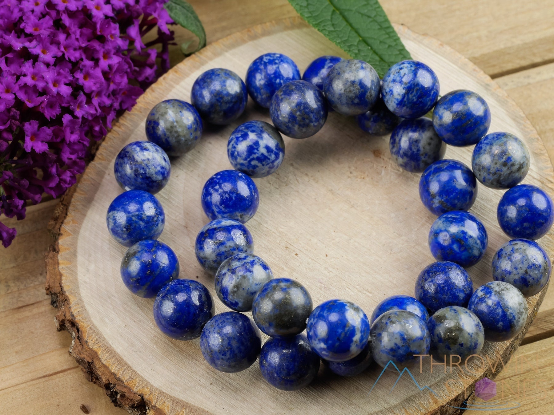Exclusive 291.00 Cts Earth Mined Untreated Blue Lapis Lazuli Real Beads Bracelet