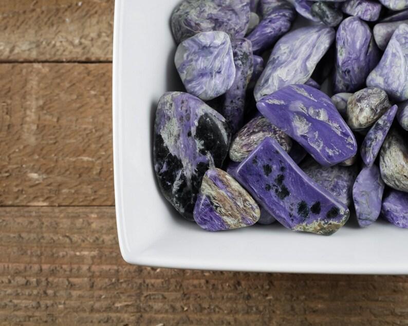 5 Medium Polished Charoite Tumbled Stones Crystal Healing Reiki