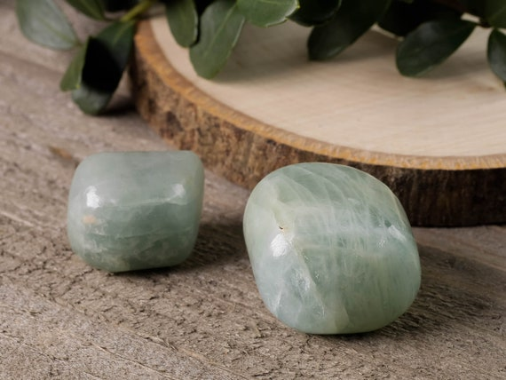 One Medium Tumbled Stone E0044 Raw AQUAMARINE Crystal