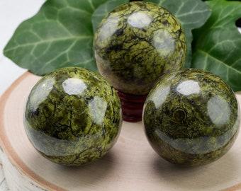 ASTERITE SERPENTINE Crystal Sphere - Crystal Ball, Housewarming Gift, Home Decor, E1202