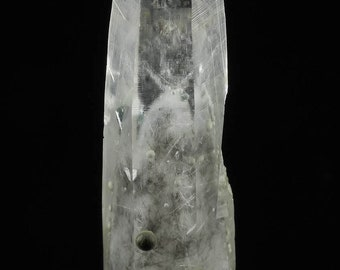 QUARTZ Tornado Phantom w TREMOLITE, COOKITE Balls,  Raw Crystal - Gift, Home Decor, Raw Crystals and Stones, 16921