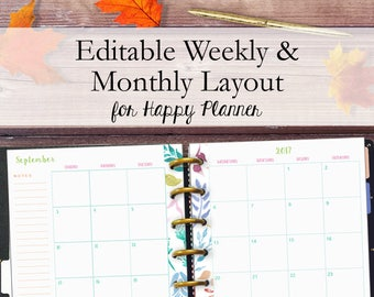 picture relating to Happy Planner Printable Calendar Pages called Satisfied planner web pages Etsy