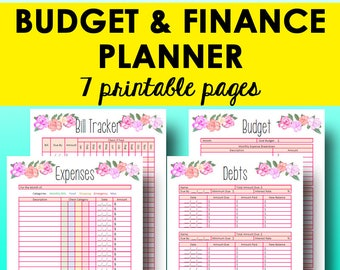 budget printable etsy