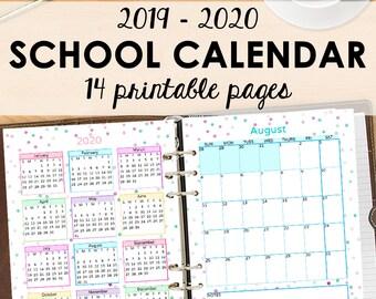 Doe Calendar 2020 18.Planner 2019 2020 Etsy
