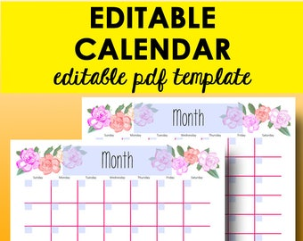 Editable calendar template 2019 printable monthly calendar etsy monthly calendar editable template planner printable calendar 2019 monthly calendars editable printables 2019 letter size instant download maxwellsz
