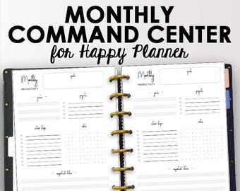 project planner for happy planner productivity printables etsy