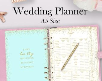 Printable Wedding Planner | Filofax Wedding Planner Inserts Wedding Planner Filofax A5 Etsy